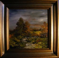 Picturi cu peisaje Paraul din lunca