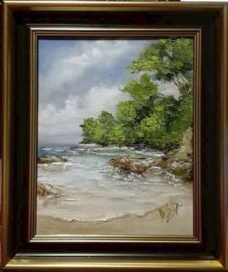 Picturi cu peisaje Pe insula pustie