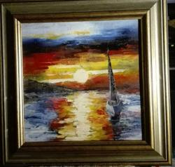 Picturi cu peisaje Singuratica