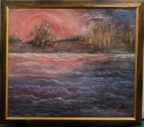 Picturi cu peisaje Noapte de foc