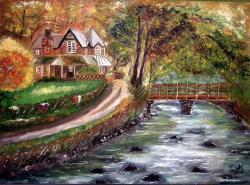 Picturi cu peisaje Casa din pature