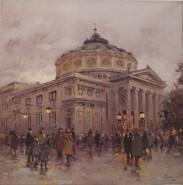 Picturi cu peisaje Ateneul bucurestiului vechi1