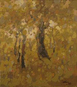 Picturi cu peisaje Auriu de toamna2
