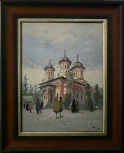 Picturi cu peisaje Biserica mare a mănăstirii Sinaia