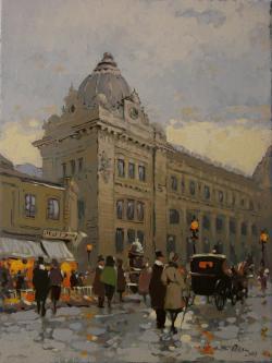 Picturi cu peisaje Bucurestiul vechi, Palatul Postei