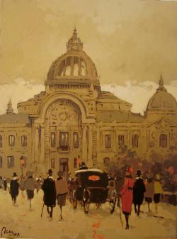 Picturi cu peisaje Casa de Depuneri a vechiului Bucuresti
