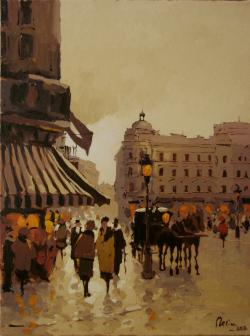 Picturi cu peisaje Cu trasura prin vechiul Bucuresti