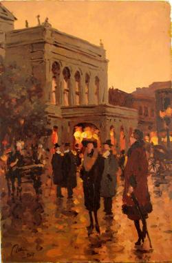 Picturi cu peisaje teatrul national al vechiului bucuresti