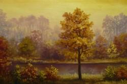 Picturi cu peisaje Apus toamna