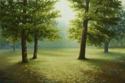 Picturi cu peisaje Dimineata de vara