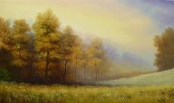 Picturi cu peisaje Rasarit toamna