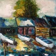 Picturi cu peisaje Baraci de pescari la balcik