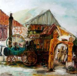 Picturi cu peisaje Intrarea la muzeul Flutur