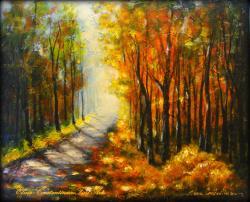 Picturi cu peisaje Golden Autumn