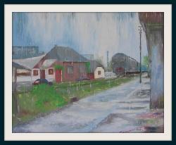 Picturi cu peisaje ploua la Bocsa