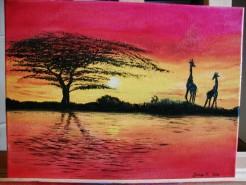 Picturi cu peisaje Apus african