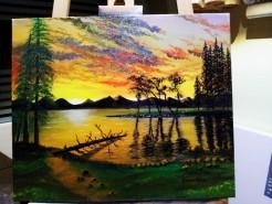 Picturi cu peisaje Emotie de seara