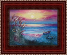 Picturi cu peisaje Vis de seara