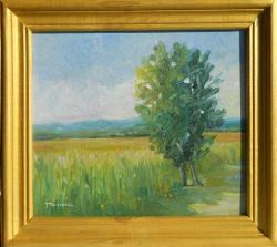 Picturi cu peisaje copac la marginea lanului
