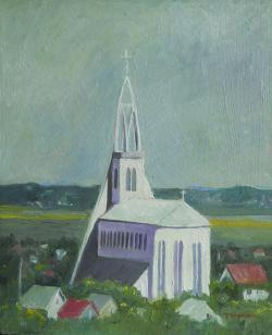 Picturi cu peisaje de veghe satului