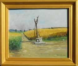Picturi cu peisaje fantana din campie