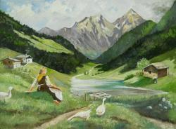 Picturi cu peisaje peisaj alpin 1