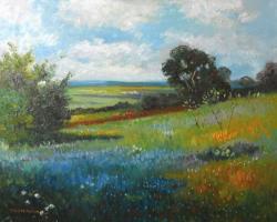 Picturi cu peisaje peisaj vara cu flori