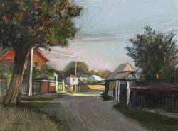 Picturi cu peisaje Rasarit de soare in Buchila 2.
