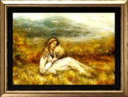 """Picturi cu peisaje Pictura peisaj montan """"Dor..."""""""