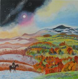 Picturi cu peisaje Anotimpuri la Ozunca