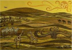 Picturi cu peisaje Savana africana