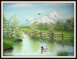 Picturi cu peisaje colt de lac