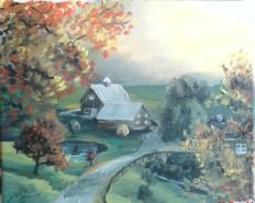 Picturi cu peisaje Casuta
