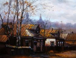 Picturi cu peisaje tomna in sat
