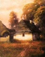 Picturi cu peisaje Casa batraneasca in olt