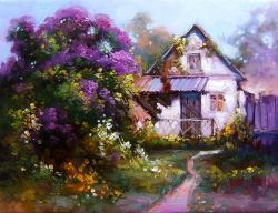 Picturi cu peisaje cottage III