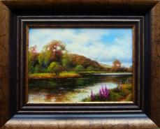 Picturi cu peisaje Dimineata in delta