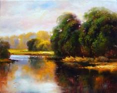 Picturi cu peisaje Lacul sinoe