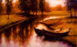 Picturi cu peisaje Reflex de toamna in delta