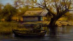 Picturi cu peisaje Refugiu pescaresc 2