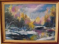Picturi cu peisaje Iarna timpurie