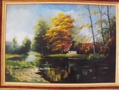 Picturi cu peisaje Pe lac