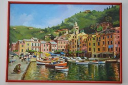 Picturi cu peisaje Port italian