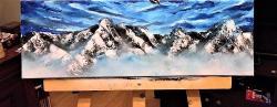 Picturi cu peisaje Mountain Peaks