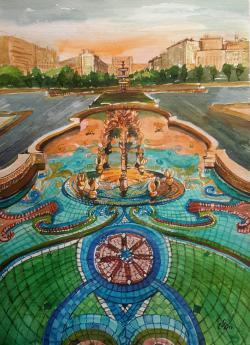 Picturi cu peisaje Fountaine 1