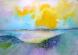 Picturi cu peisaje Yellow Sky 6