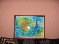 Picturi cu peisaje Apus de soare pe marea neagra