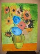 Picturi cu peisaje Flori gen van gogh