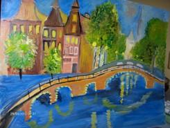 Picturi cu peisaje Podul din amsterdam