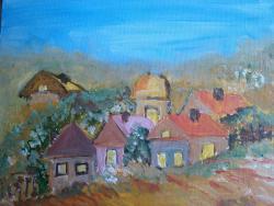 Picturi cu peisaje Satuc de deal